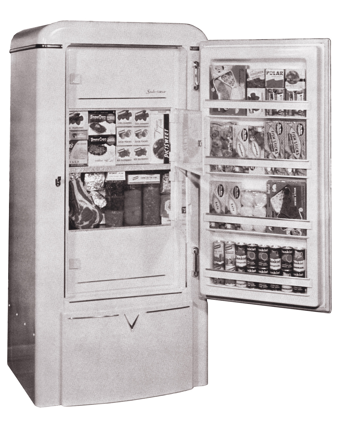 Classic Sub-Zero model 20D Refrigerator and Freezer