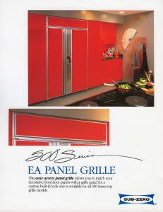 Sub-Zero built-in 500 Series Advertisement EA Panel Grille
