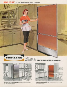 Reto Sub-Zero Model 125 BIRF built-in refrigerator and freezer advertisement