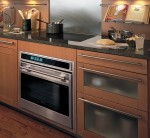 A premium Wolf oven and cooktop in a kitchen